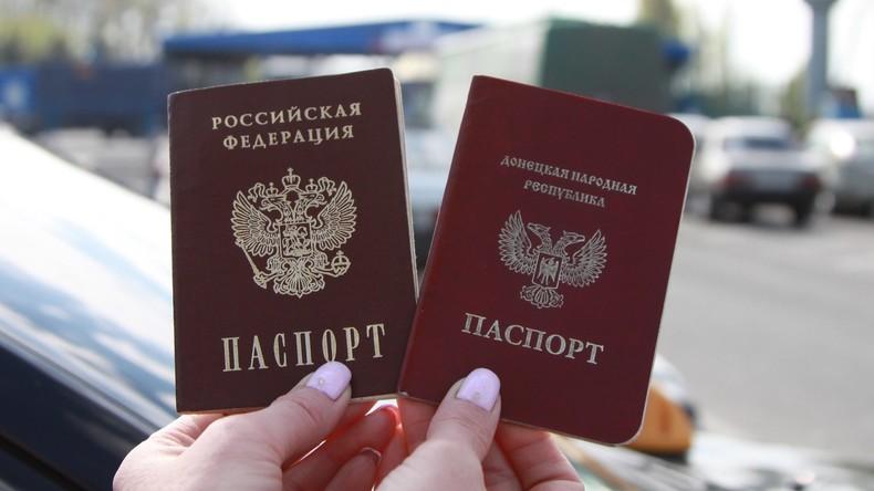Kreml: Russische Pässe sollen Menschen im Donbass Bewegungsfreiheit ermöglichen