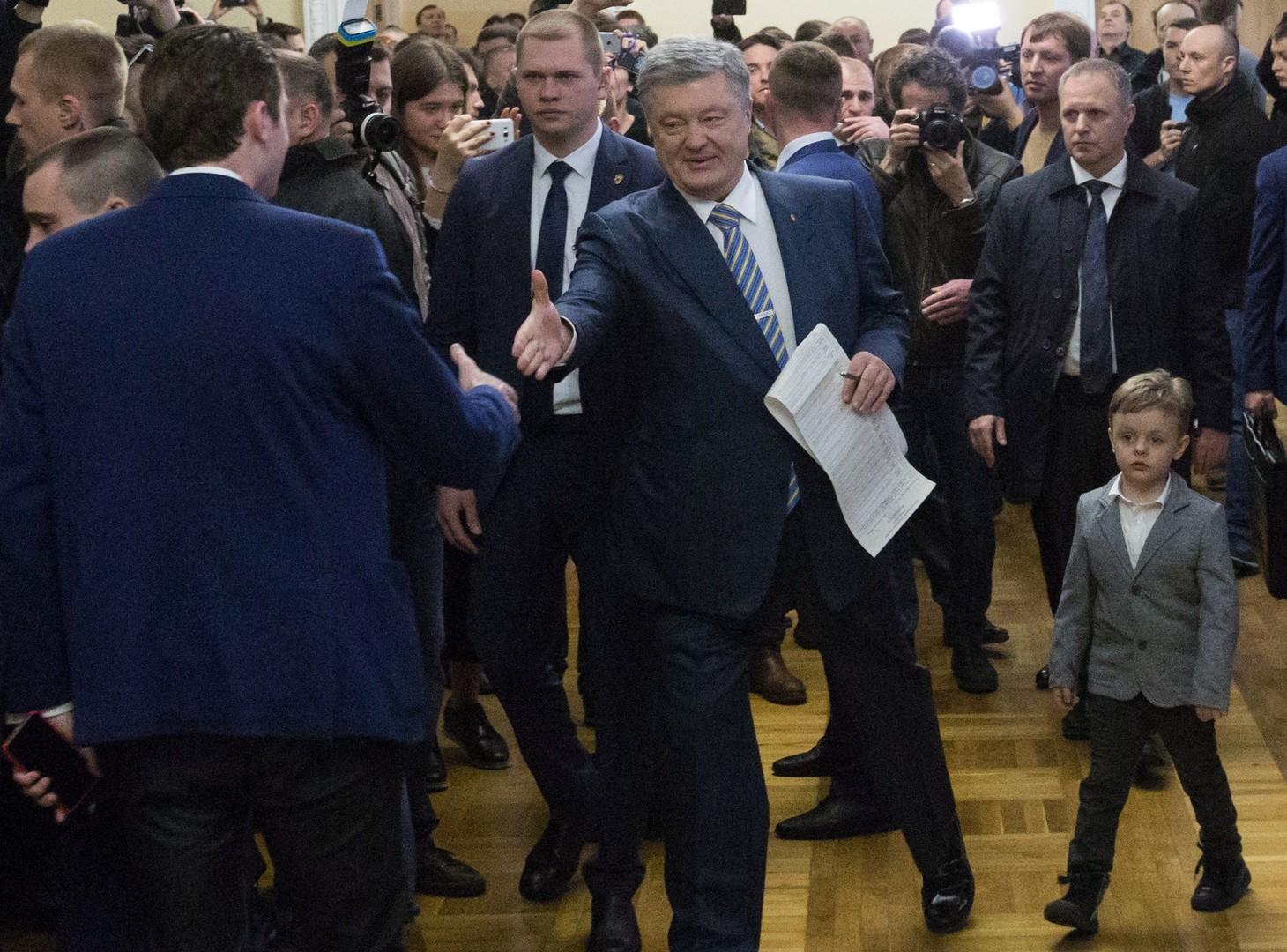 Amtierender Präsident Petro Poroschenko