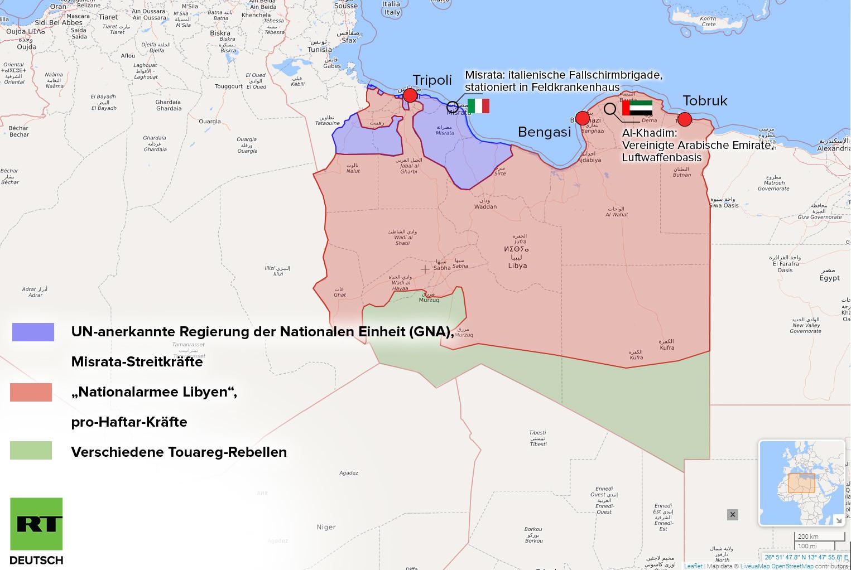 """""""Stich in den Rücken"""" – Frankreich unterstützt Offensive in Libyen gegen UN-anerkannte Regierung"""