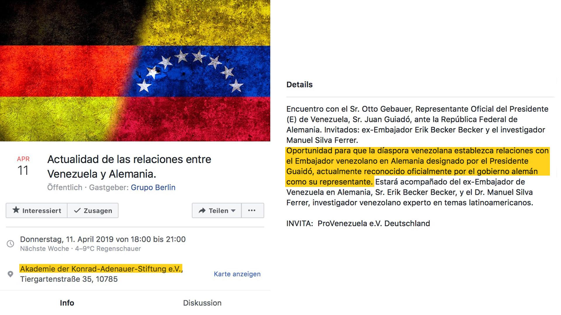 """Diplomatischer Eiertanz der Bundesregierung um Guaidós """"Botschafter für Deutschland"""""""