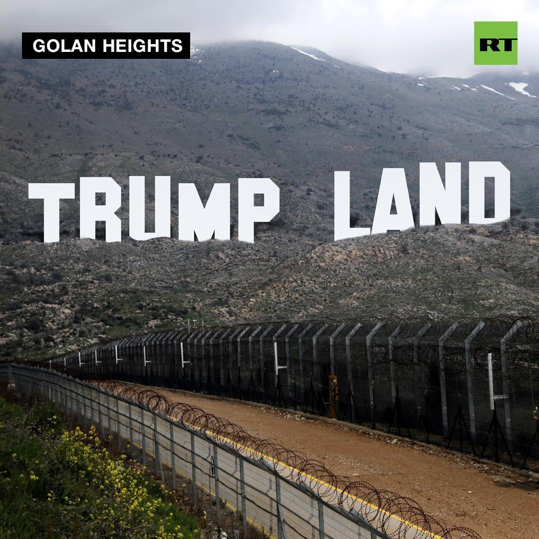 Spezieller Dank an Trump: Netanjahu will Ort auf den Golanhöhen nach dem US-Präsidenten benennen
