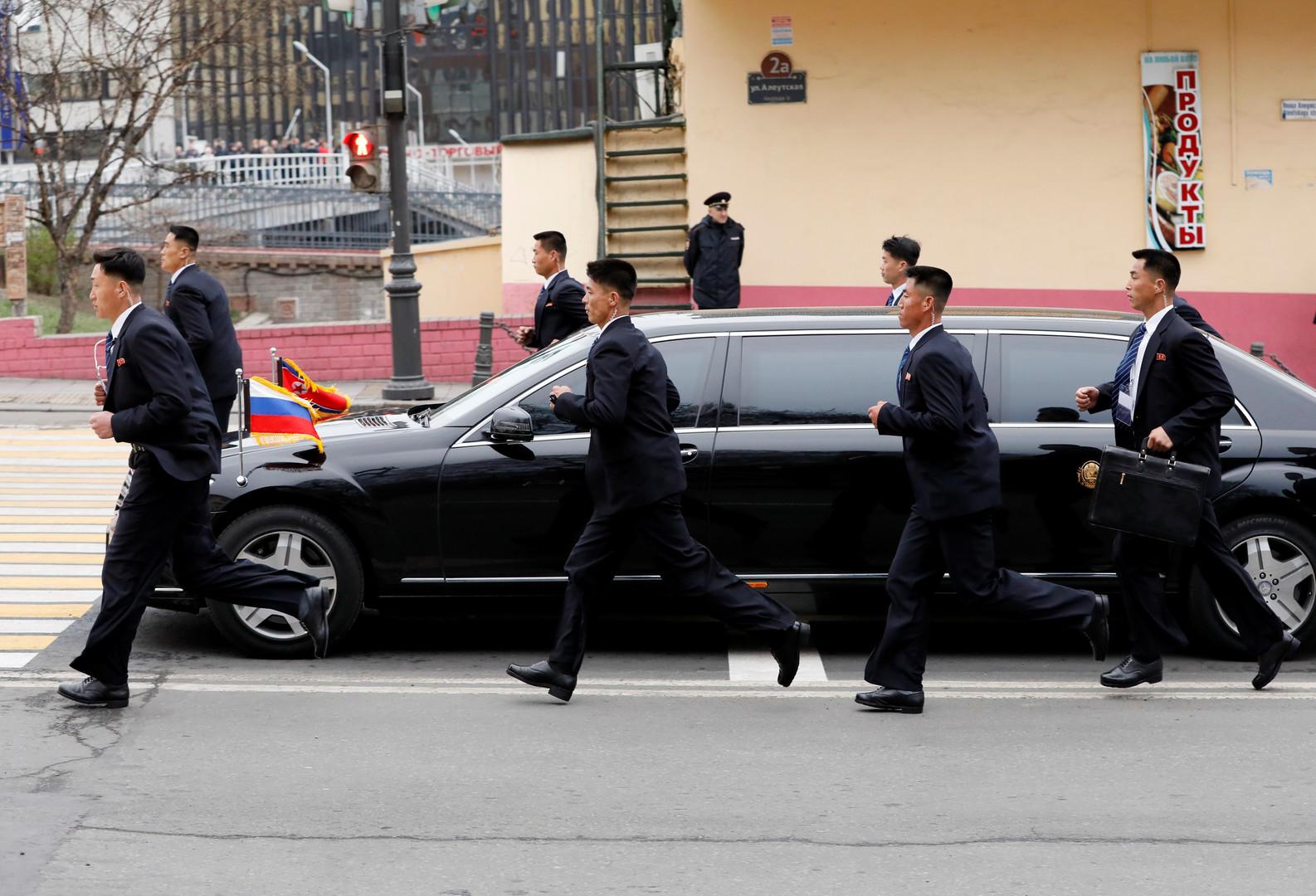 Bodyguards schützen den Staatschef auch in der Limo