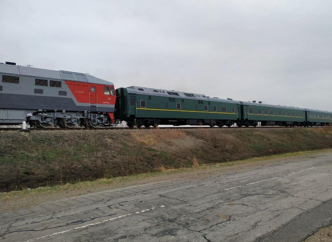 Kim Jong-Un kommt in seinem gepanzerten Zug nach Russland