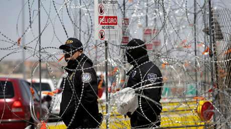 U.S. Customs and Border Protection (CBP) an der Grenze zu Mexiko, USA, Ciudad Juárez, 31. März 2019.