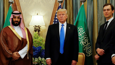 US-Präsident Donald Trump, dessen Schwiegersohn Jared Kushner und der saudische Kronprinz Mohammed bin Salman in Riad, Saudi-Arabien, 20. Mai 2017.