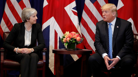 Die britische Premierministerin Theresa May mit US-Präsident Donald Trump in New York im September 2018