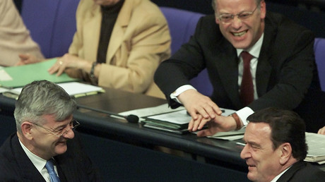 Rudolf Scharping im Bundestag: