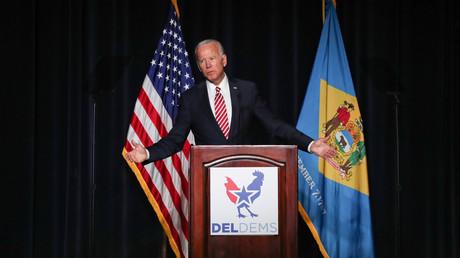 Joe Biden spricht auf einer Veranstaltung der Demokraten (Dove, 16. März 2019)