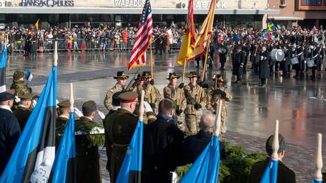 US-Soldaten bei der 100-Jahrfeier am 24. Februar 2018 in Tallinn/Estland.