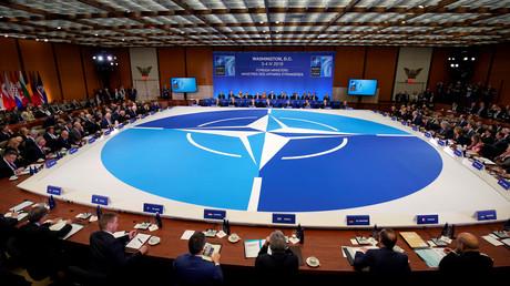 Immer die Guten: die NATO-Außenminister bei ihrem Treffen in Washington am Donnerstag