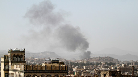 Rauch nach einem Luftangriff in Sanaa, Jemen.