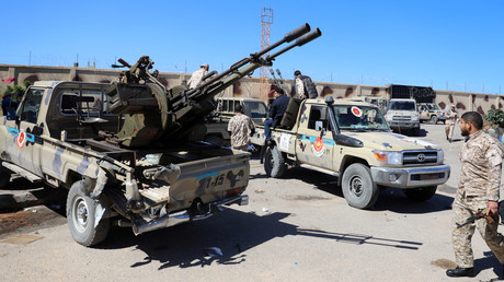 Milizen in Misrata machen sich bereit, um Tripolis bei der Abwehr der Offensive des Feldmarschalls Chalifa Haftar zur Hilfe zu eilen.