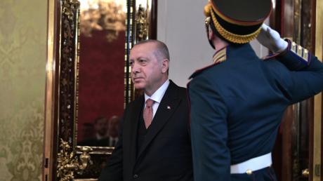Präsident Erdogan am Montag im Kreml