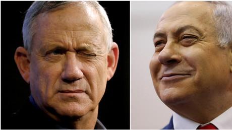 Benny Gantz (l.) und Benjamin Netanjahu, Aschkelon, Israel, 3. April 2019