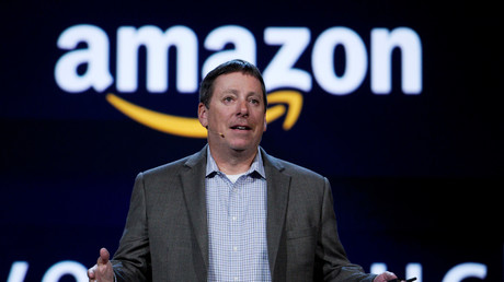 Steve Rabuchin, Präsident von Amazon Alexa während einer Präsentation in Las Vegas
