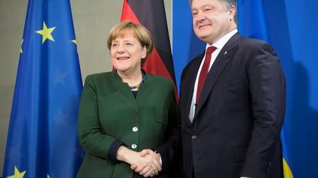 Angela Merkel und Petro Poroschenko beim Treffen in Berlin am 17. Januar 2017