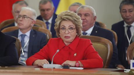 Die Vorsitzende des Russischen Föderationsrates Walentina Matwijenko
