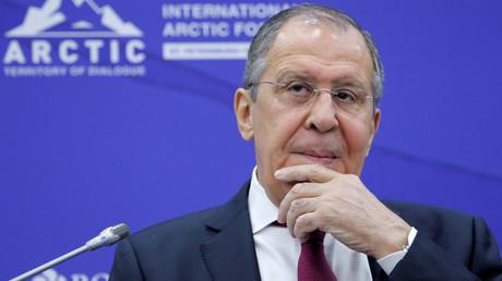 Russlands Außenminister auf dem Internationalen Arktis Forum in Sankt Petersburg (9. April 2019)