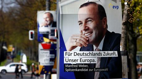 Wahlplakate der CDU und CSU für die Europawahl, Berlin, Deutschland, 15. April 2019.