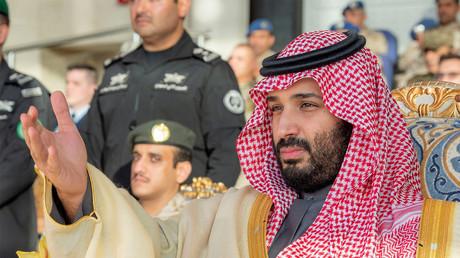 Der saudische Kronprinz Mohammed bin Salman wohnt einer Absolventenzermonie der 95. Kadetten der King Faisal Air Academy in Riad bei, Saudi-Arabien, 23. Dezember 2018.