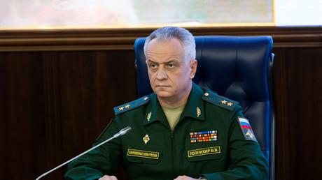 Generalleutnant Wiktor Poznichir, Erster Stellvertretender Leiter der Hauptabteilung für Operationen des russischen Generalstabs.