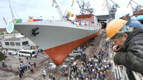 Bereits im Jahr 2010 wurde in der Ostseewerft Jantar eine Fregatte des Modells