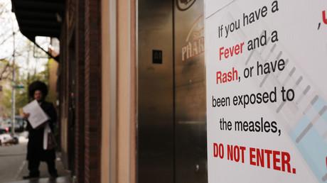 Auch in der ultraorthodoxen jüdischen Gemeinde in Williamsburg, New York City sorgen Masernausbrüche für Probleme. (Bild vom 19. April)