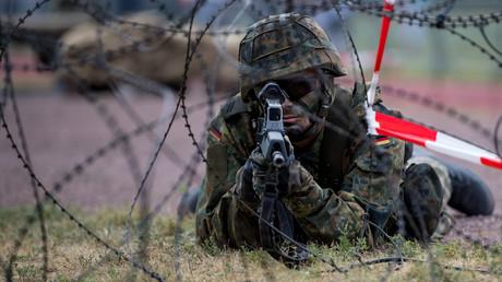 Ein Soldat beim