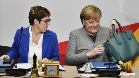 Läuft ihre Zeit ab? Merkel mit Kramp-Karrenbauer im Januar 2019 in Potsdam