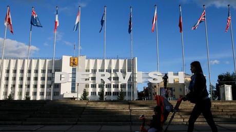 Die Hafenstadt Archangelsk (