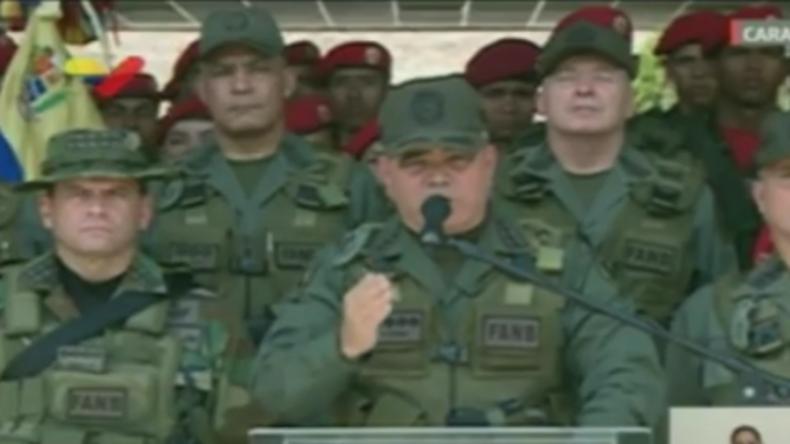 """Venezuelas Armeechef: """"Wer mit Gewalt nach Miraflores kommt, wird mit Gewalt zu Fall gebracht"""""""