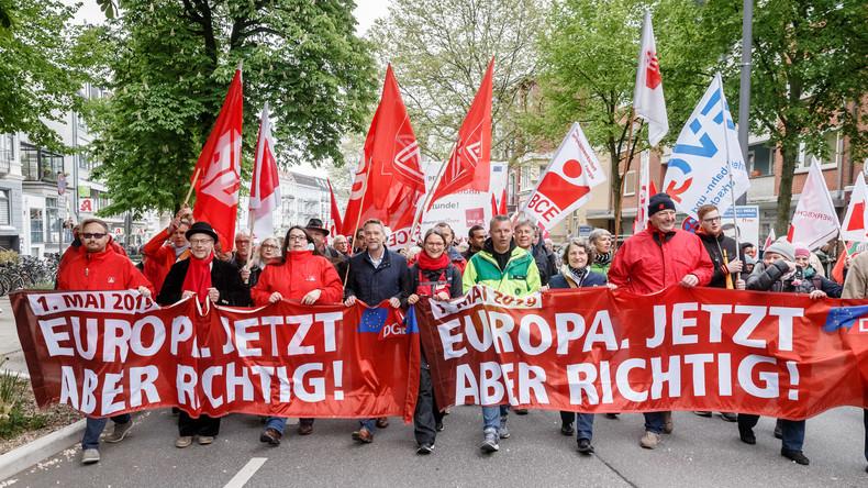 LIVE: 1. Mai – Demonstrationen in Berlin zum Internationalen Tag der Arbeit