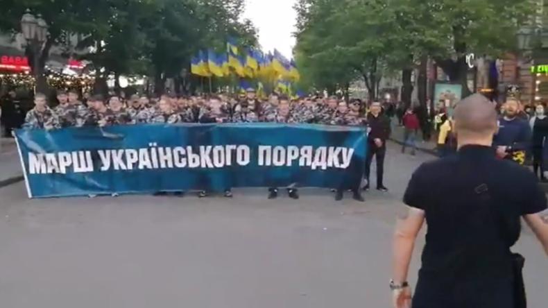 Ukraine: Nationalistenkundgebung in Odessa am fünften Jahrestag des Massakers vom 2. Mai 2014