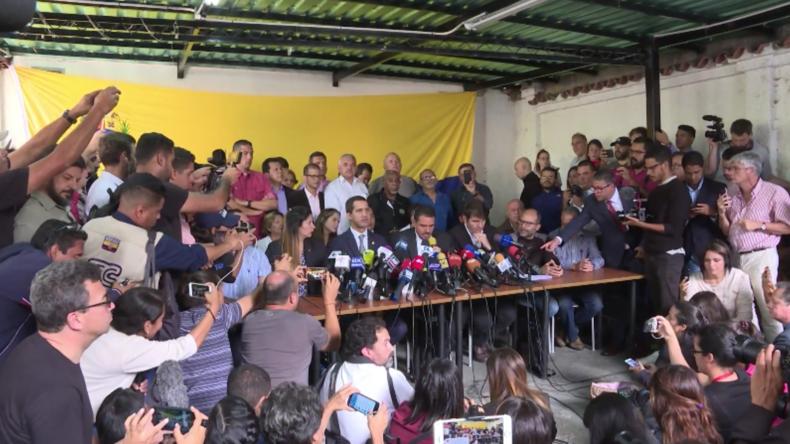 """Venezuela: Guaidó schwört, die """"Operation Freiheit"""" fortzusetzen"""