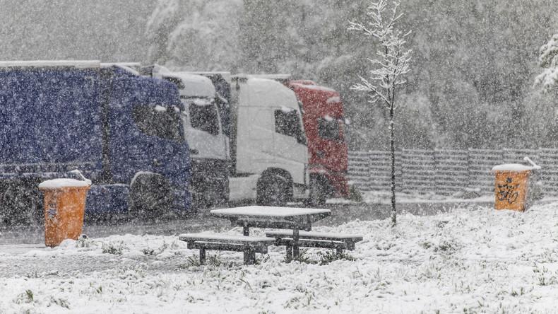 Schnee, Frost und Glätte: Winterliches Wetter im Mai in Deutschland