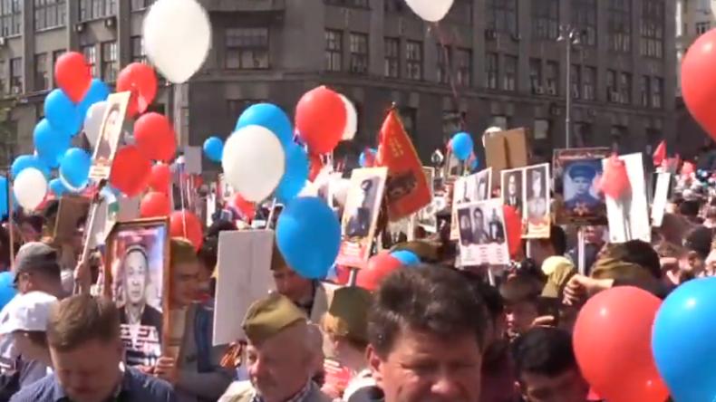 LIVE: Tag des Sieges – Marsch des Unsterblichen Regiments in Moskau