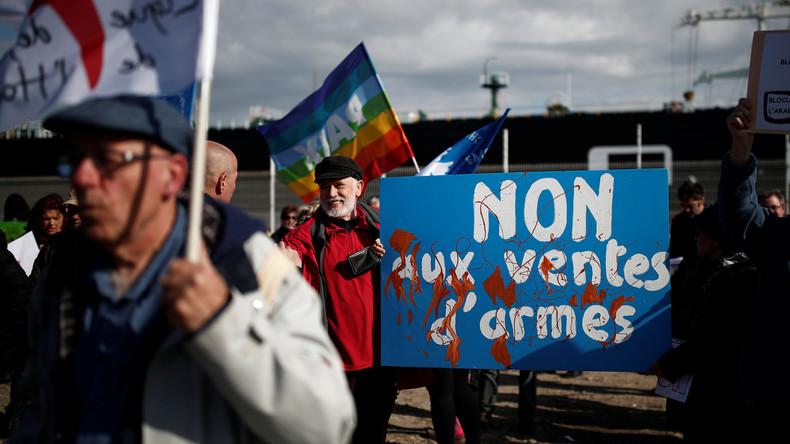 Widerstand gegen französische Waffenlieferungen an Saudi-Arabien (Video)