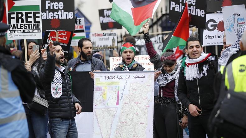 LIVE: Tausende auf Kundgebung in London zur Unterstützung Palästinas
