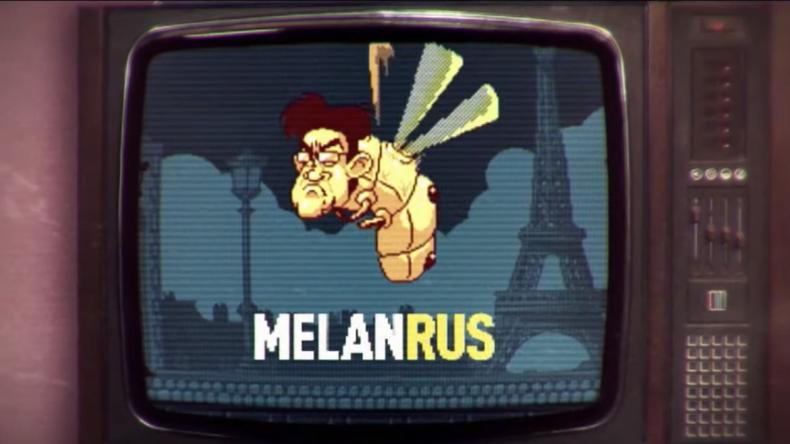 Mélenchon als russisches Insekt: Macron macht Wahlkampf mit diffamierendem Computerspiel (Video)