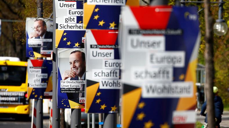 Umfrage vor EU-Wahl: GroKo-Parteien vor schweren Verlusten