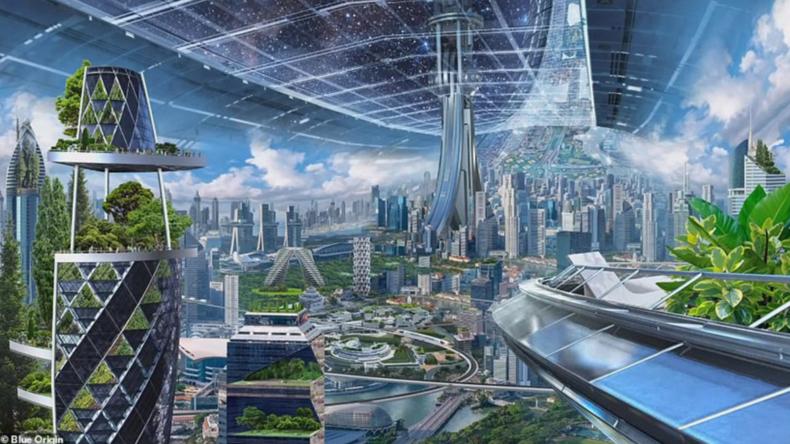 Sieht so die Zukunft aus? Amazon-Chef stellt seine Weltraum-Kolonien vor