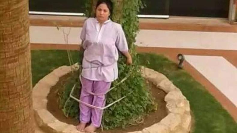 Saudischer Arbeitgeber fesselt philippinische Haushälterin zur Strafe an Baum