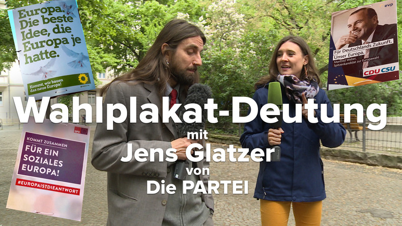 Auf Deutungssuche mit EU-Wahlkandidat von der PARTEI: Was will uns die Wahlwerbung sagen? (Video)