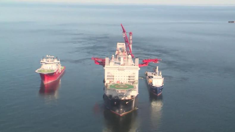 Ostsee: Besuch auf der schwimmenden Baustelle von Nord Stream 2