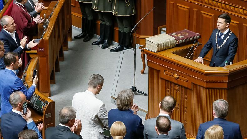 """Selenskij nach Vereidigung zum ukrainischen Präsidenten: """"Werde alles tun, damit ihr nicht weint"""""""