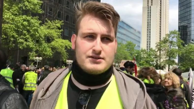 Paris: Linke Delegation aus Deutschland beim Gelbwesten-Protest