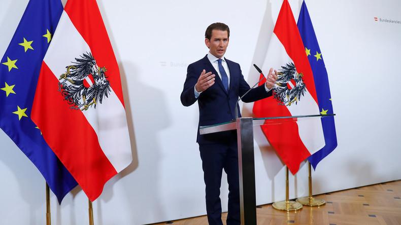 LIVE: Österreichs Kanzler Sebastian Kurz gibt Presseerklärung ab