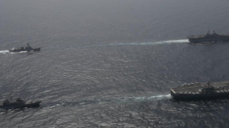 Provokation Richtung Iran? US-Kriegsschiffe üben im nördlichen Arabischen Meer