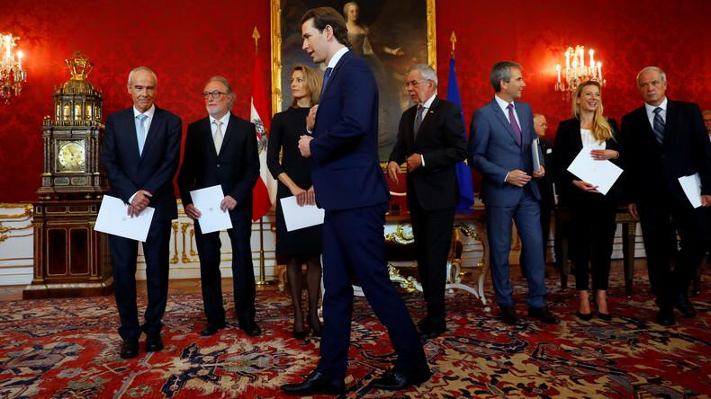Österreich: Neue Minister für die Übergangsregierung vereidigt
