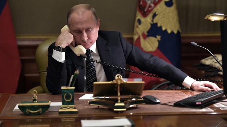 Kreml: Putin führte Telefongespräche mit Merkel und Macron über Syrien und Ukraine
